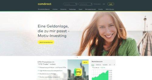 Startseite der Comdirect