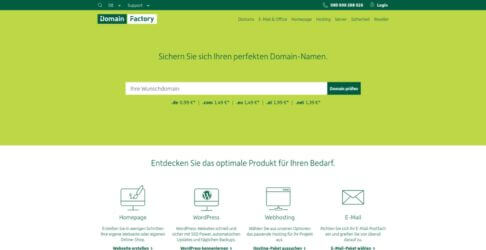 domainFactory Homepage