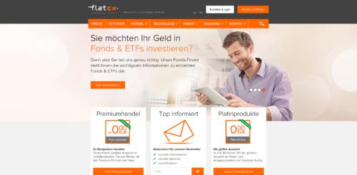 flatex Startseite